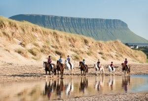 horse riding on sligo beach.