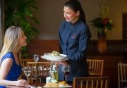 waitress-serving-guest-in-Brasserie-Restaurant-at-Clayton-Hotel-Dublin-Airport